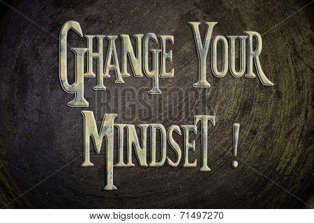 Change Your Mindset Concept