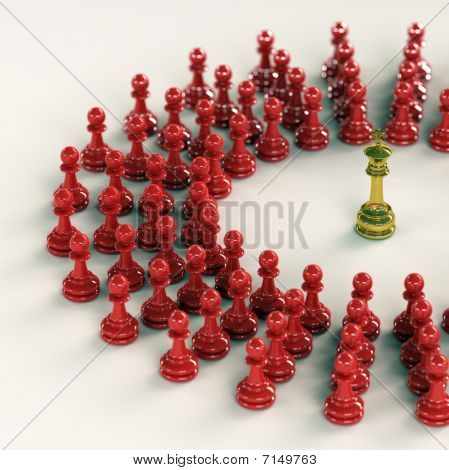 King Gathers His Pawns