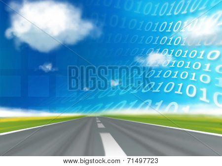 Virtual Traveling, road