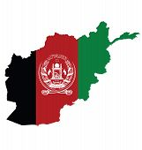 Постер, плакат: Afghanistan Map Flag