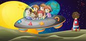 foto of outerspace  - Illustration of the kids in the outerspace - JPG