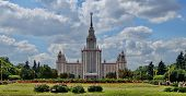 picture of mater  - view of the Moscow State University in Russia  - JPG