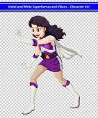 stock photo of trooper  - Illustration of a female violet and white superhero - JPG
