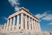 picture of parthenon  - Temple of Parthenon at Acropolis hill Athens Greece - JPG