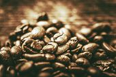 image of coffee coffee plant  - Golden Coffee Beans - JPG