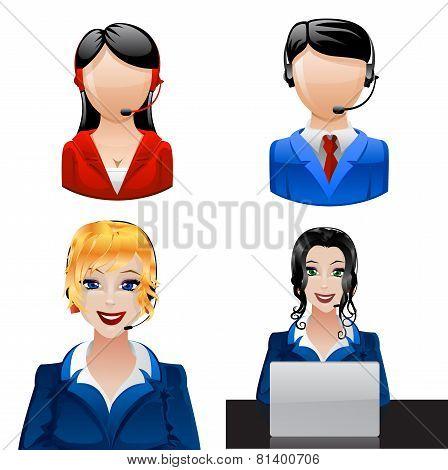 Customer phone operators.