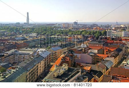 Aerial View Of Malmo City, Sweden
