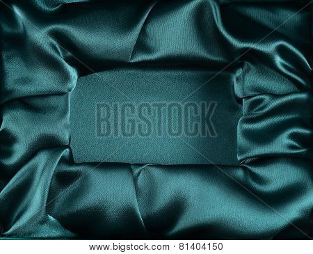 Silk opened box as background