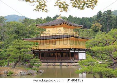 Kinkaku-ji Or Rokuon-ji, A Famous Zen Buddhist Temple, In Kyoto, Japan