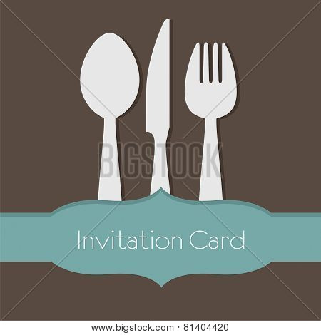 Food Concept Invitation Card