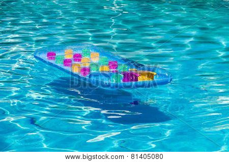 Colorful Sea Mattress In Pool