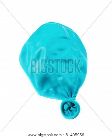 Deflated balloon isolated