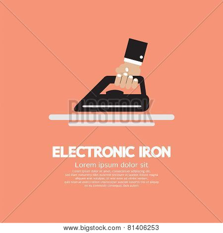 Electronic Iron In Hand.