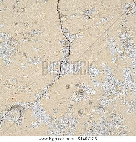 Old shabby concrete wall