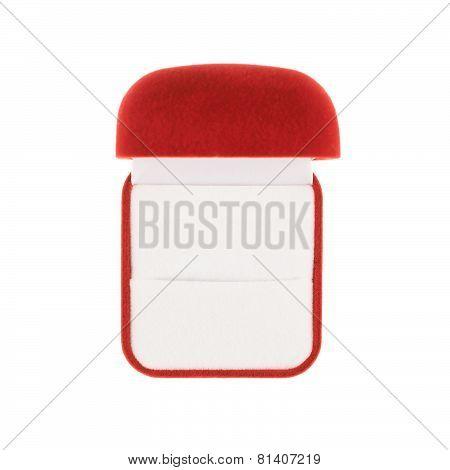 Red velvet box isolated