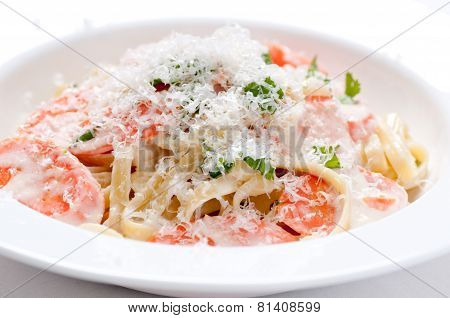 Vegetarian Fettuccine Alfredo