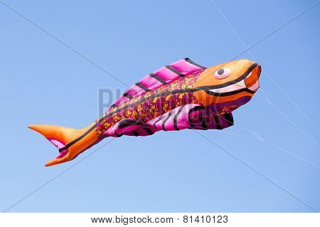 Great Fish Kite In The Blue Sky