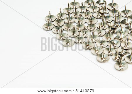 Thumb tack isolated on white background
