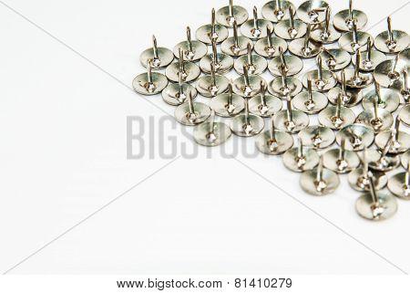 Thumb tack isolated on white background