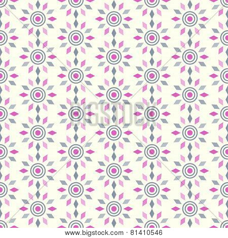 Purple Abstract Circle And Rhomboid Pattern On Pastel Background