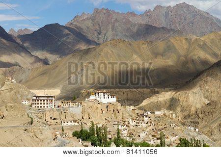 Lamayuru Monastery Panorama At Himalayas