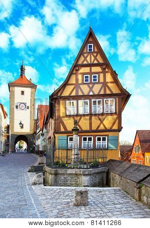 The most picturesque view of Germany, Rothenburg ob der Tauber