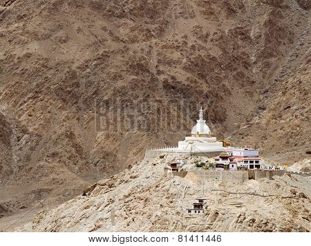 Buddhist Shanti Stupa at Leh
