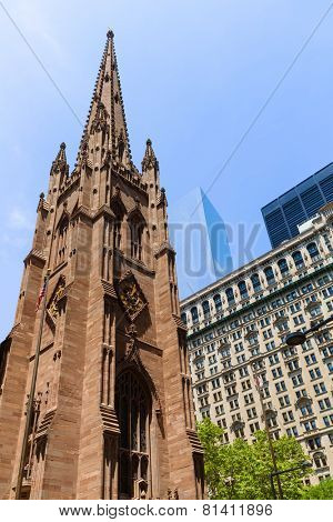 Trinity Church in Manhattan NYC New York City USA