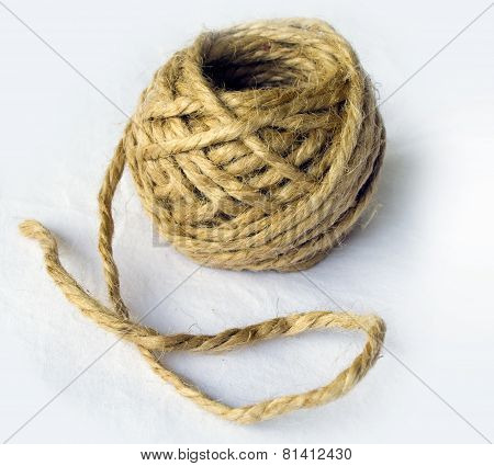 Ecru hemp rope ball