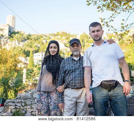 Arabic Muslim Middle Eastern girl traveling