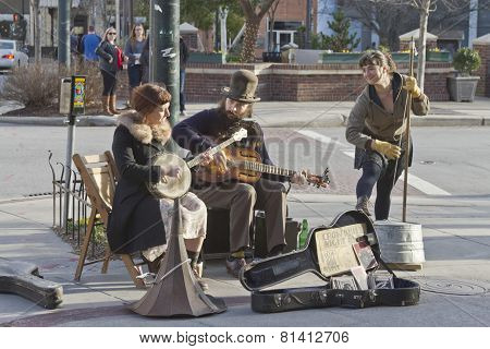 Trio Of Talented Street Musicians