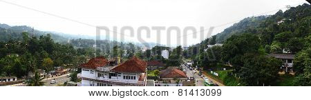 Panorama of the city of Kandy, Sri Lanka