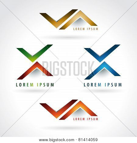 Letter X And Arrow Shape Logo