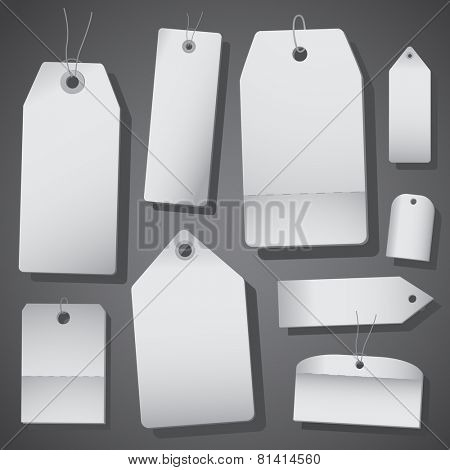 White price tags isolated