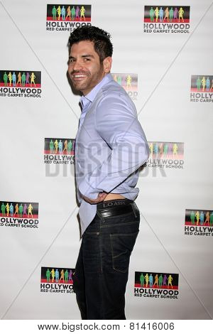 LOS ANGELES - JAN 17:  AJ Trada at the Hollywood Red Carpet School at Secret Rose Theater on January 17, 2015 in Studio City, CA