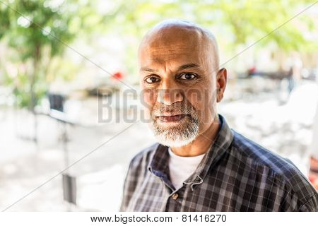 Elderly Arabic Pakistani man portrait