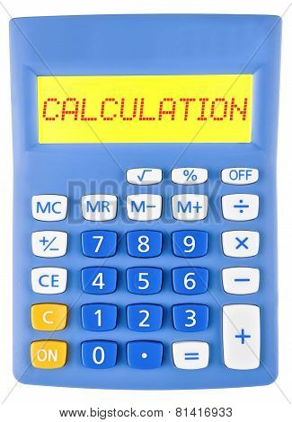 Calculator With Calculation