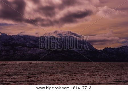 Okanagan Lake On Cold Winter Day