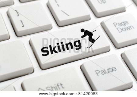Skiing and symbol key on keyboard