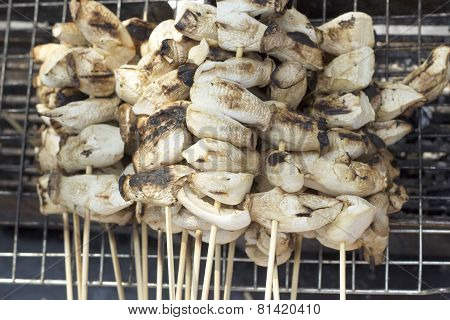 Grilled Eringe Mushrooms