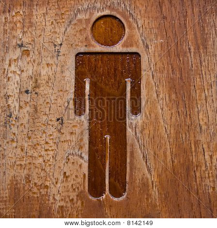 The symbol of restroom