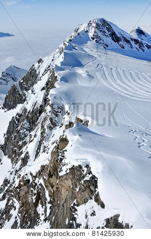 Ski Piste In The Alps