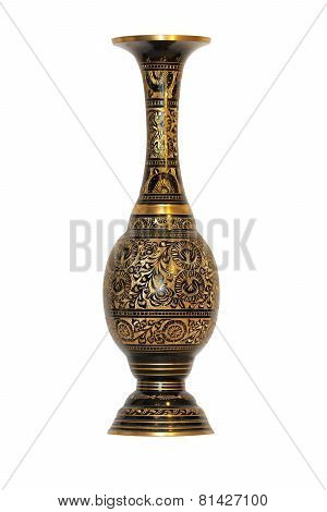 Black-gold vase isolated