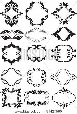 Set Of Decorative  Elements For Design. Vector Illustration.