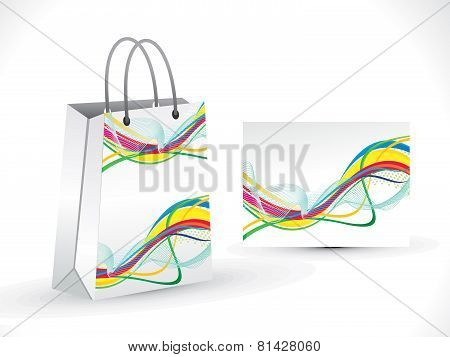 Abstract Artistic Colorful  Wave Shopping Bag