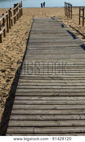 Wooden Beach Path