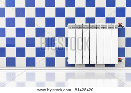 Modern Heating Radiator With Tile Wall