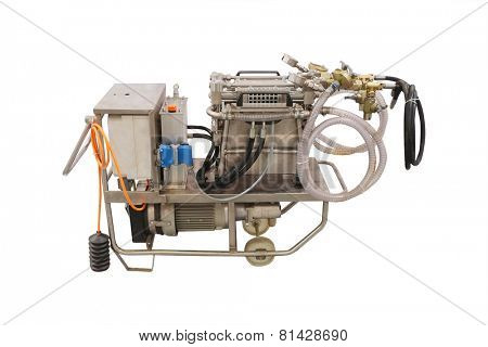 dosing pump cement isolated under the white background