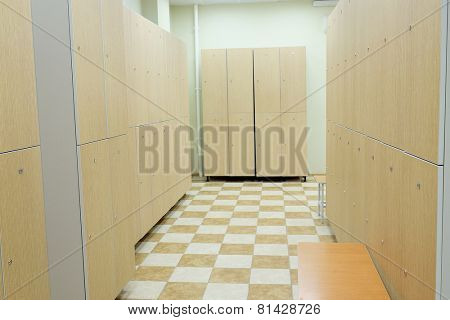Interior is modern locker rooms