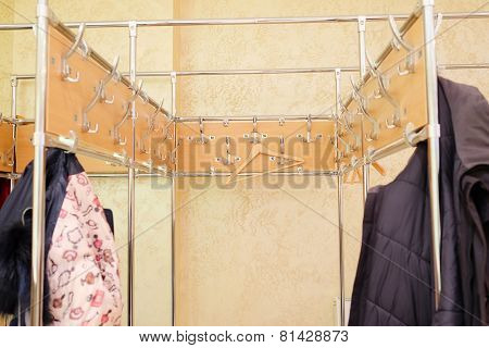 locker room on a hanger hanging clothes